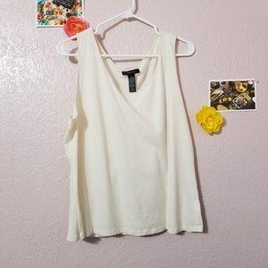 Style Co Women White Cream Tank Top Blouse Size XL